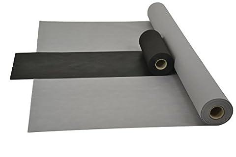Sensalux Kombi-Set 1 Tischdeckenrolle 1,2m x 25m + Tischläufer 30cm (Farbe nach Wahl) Rolle grau Tischläufer