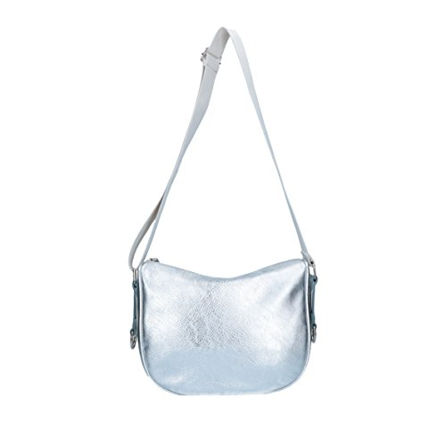 Bright - Violetta - Borsa In Pelle Edecopelle Made In Italy - Sacca argento