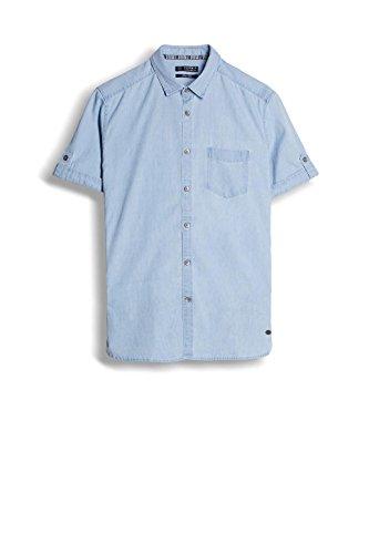 Esprit 047ee2f014, Chemise Casual Homme Bleu (Blue Light Wash)