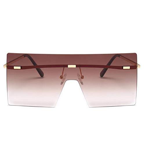 YingYing Ma Unisex polarisierte Sonnenbrille,Siamese Rahmenlos Sonnenbrille Unisex Sonnenschutz...