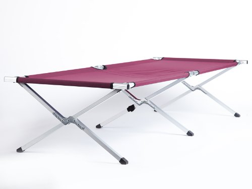31UjjY wXAL - Skandika Camping Bed XXL Comfortable Camping Lounger 210 x 80cm