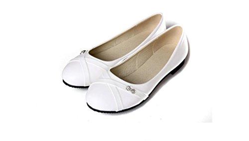 Beauqueen Pompe tempo libero pigri Scarpe primavera e l'estate piatto Court Bianco Giallo Rosso Nero Mocassini 31-47 donne scarpe casual Black