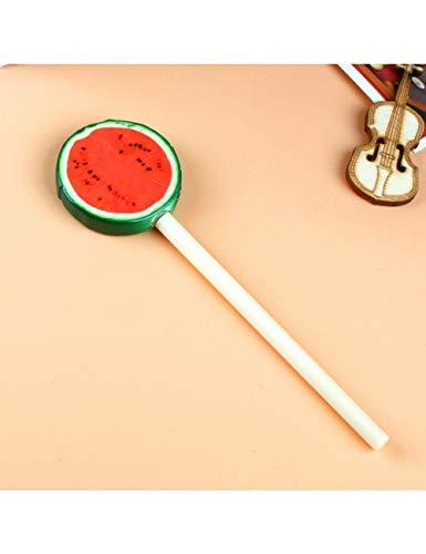HHHHW Lebhafte Frucht-Lutscher-Form-Plastikkugelschreiber-Doppelter Gebrauch Für Das Schreiben Der Schwarzen Mine 2Pcs, 1