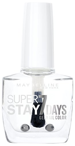 Maybelline New York Make-Up Super Stay Nailpolish Forever Strong 7 Days Finish Gel Nagellack 25 Crystal Clear / Transparenter Lack mit ultra starkem Halt ohne UV Lampe, 1 x 10 ml (Make-up Forever Uv)