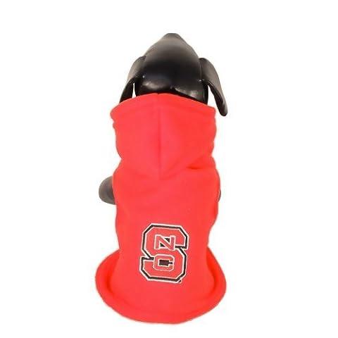 NCAA North Carolina State Wolfpack Collegiate Baumwolle Lycra mit Kapuze Hund Shirt (Team Farbe, Tiny) von All Star Hunde