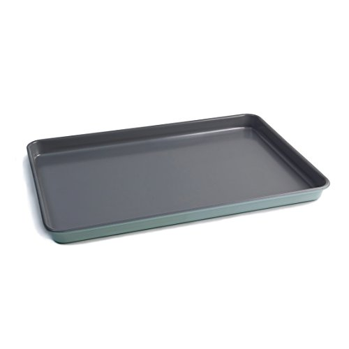 Jamie Oliver Bakeware Range Non-Stick Baking Tray, Carbon Steel/Harbour Blue