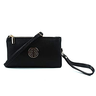 Aossta Small Clutch Bags Crossbody Bag With Wristlet and Long Adjustable Strap