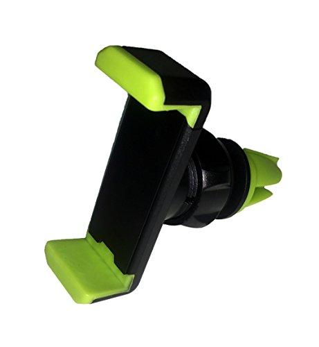 HubLines® - Universal Handy Halterung Auto Lüftung in schwarz/grün, Handyhalterung Auto 360°-Drehung...