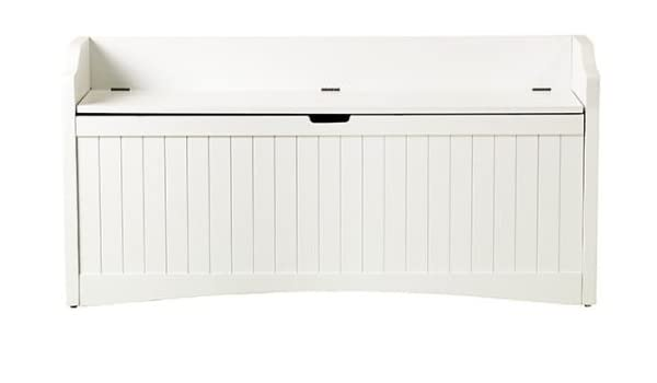 Fabulous Madison 48W Lift Top Storage Bench 48W White Amazon Co Short Links Chair Design For Home Short Linksinfo