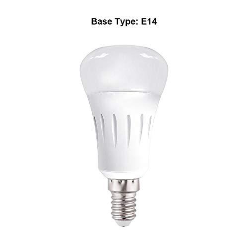 fanglian211 - Bombilla LED con WiFi Inteligente, RGB, controlable Mediante aplicación, Regulable, Compatible con Alexa, Ein, E14, B22 7.0watts