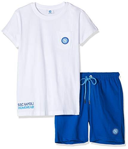SSC Napoli P19b1n90645, Lifestyle Kinder Trikot mit Taschen, Unisex, Unisex - Kinder, P19B1N90645 Bianco, Bianco, 11-12 anni