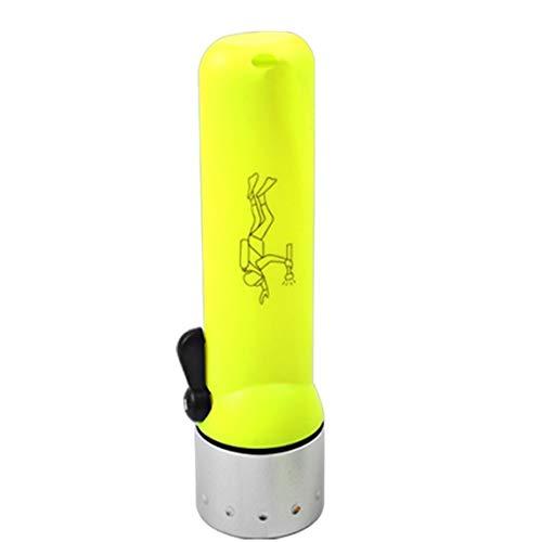Zinniaya Antorcha de buceo aislada sellada bajo el agua a prueba de agua LED Linterna de buceo al aire libre Deslumbramiento Iluminación 3W Lámpara de 50 metros