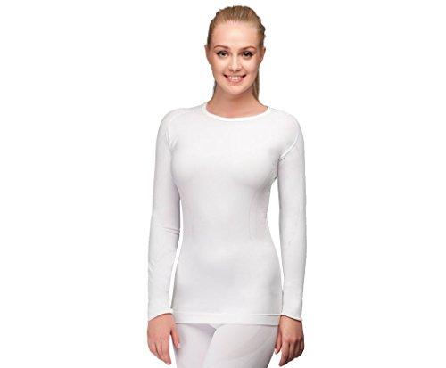 Thermo-Langarmshirt Outdoor Sport Unterhemd Skiunterwäsche Meryl Skinlife Damen TF Thermoform (S/M, weiß)