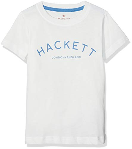 Hackett London MR Class SS T, Camiseta para Niños, Gris (Winter White 799) 2 Años