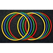 Boje Sport - Lote de aros planos para gimnasia rítmica (8 unidades, 60 cm de diámetro), 4 colores