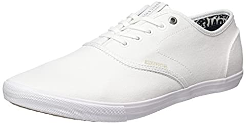 JACK & JONES Men's Jfwspider Canvas Bright White Low-Top Sneakers, White (Bright White), 8 UK
