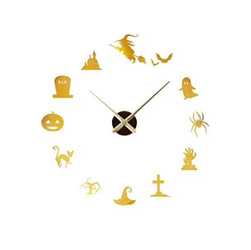 Chuixiaoxiao111 Nach maß DIY wanduhr Spiegel Quarz wanduhr wandaufkleber acryl horloge Hause Halloween decoration27inch (Halloween Handwerk Kindergarten Einfach)