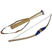Juguetutto - Arco peq. Ventosa AZUL . Juguete arco de madera para que niños de todas las edades puedan probar su puntería lanzando las flechas con ventosa que incorpora