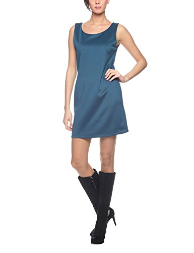 Olivia - Abito Smanicato Modello Tubino - Robe Femme Bleu (Ottanio)