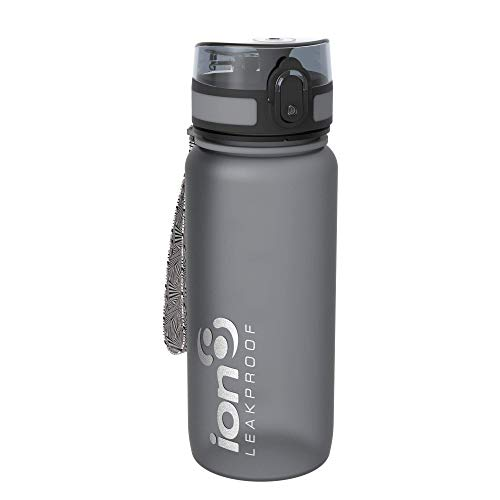 Ion8 Bottiglia per l'acqua, a prova di perdite, senza BPA, unisex, Leak Proof BPA Free, Frosted Grey, 750 ml