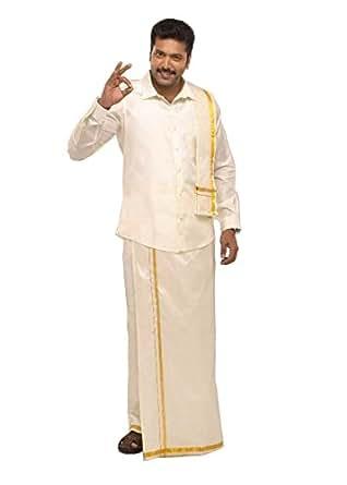 Radha Silk Emporium Men's Wear Dothi Set