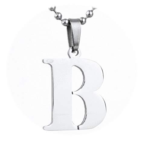 tten mit Anhänger Buchstaben B Kette Silber 925 Freundschaftskette ()