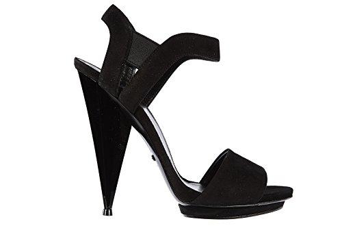 Gucci sandali donna con tacco camoscio kyd nero EU 39 347558 CGYV0 1000