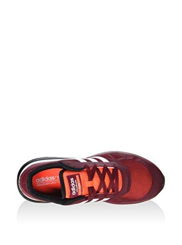 adidas Cloudfoam Flow, Chaussures de Sport Homme, Noir Rouge (rouge solaire / blanc Footwear / rouge Bourgogne collégial)