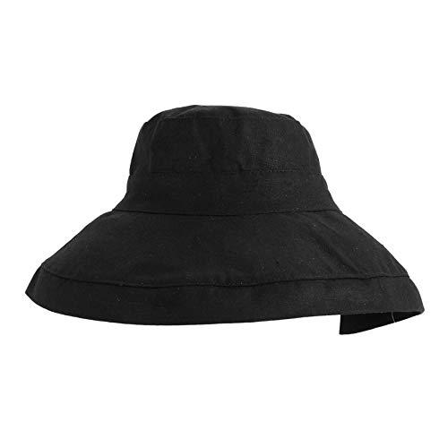 a5baaceb5715b Japanese Style Sun Hat Foldable Wide Brimmed Women Sun Visor Summer Beach Fisherman  Hat Casual Solid