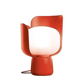 Fontana Arte Blom Tischleuchte, rot Metall H: 24cm Ø: 15cm