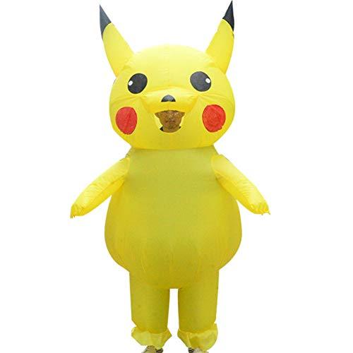 S+S Aufblasbare Kleidungs-Karikatur-Puppe Pikachu Nette Rolle, Die Fantasie-Fantastische Weihnachtsdekoration Spielt Das Karikatur-kostüm, Gelb - Pikachu Kostüm Karte