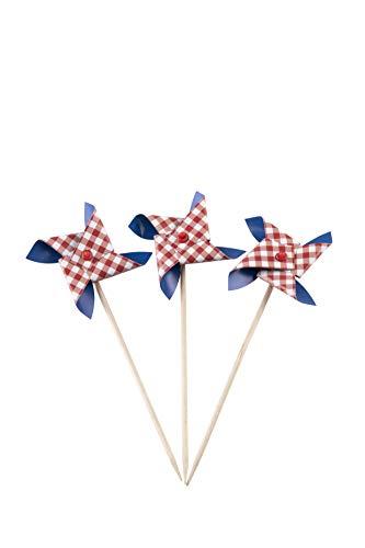 Simply Baked Patriotic Pinwheel Topper, 24 Stück