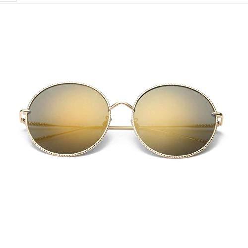 KISlink Retro Vintage Style Runde Metall Kreis Nicht polarisierte Sonnenbrille für Frauen, Bunte Brillen UV400 (Farbe: 04)