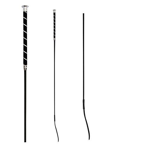 WALDHAUSEN Dressurgerte - Veloursgriff, Länge 120 cm, schwarz