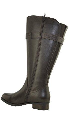 JJ Footwear Damen Stiefel Leder Victoria XL Espresso Cow Nappa