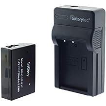 Batterytec® Batterie pour Canon LP-E17, T6i T6s 7i, EOS M3 M5 M6, Canon EOS 200D 77D 750D 760D 800D 8000D, Kiss X8i, Digital SLR Kamera et Micro USB Chargeur pour Canon LP-E17.[12 Mois de Garantie]