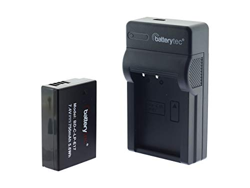 Batterytec® Akku für Canon LP-E17, Rebel SL2 T6i T6s T7i, EOS M3 M5 M6, Canon EOS 200D 77D 750D 760D 800D, KISS X8i, Digital SLR Kamera and Micro USB Ladegerät für Canon LP-E17.[12 Monate Garantie] -