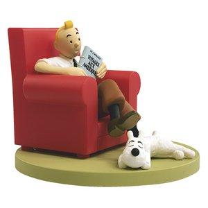 Figura de colección Tintín en su sillón con Milú Moulinsart 43109 (2011) 3
