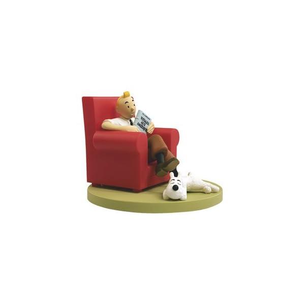 Figura de colección Tintín en su sillón con Milú Moulinsart 43109 (2011) 1
