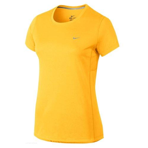 NIKE t-shirt miler pour femme Amarillo (Varsity Maize)