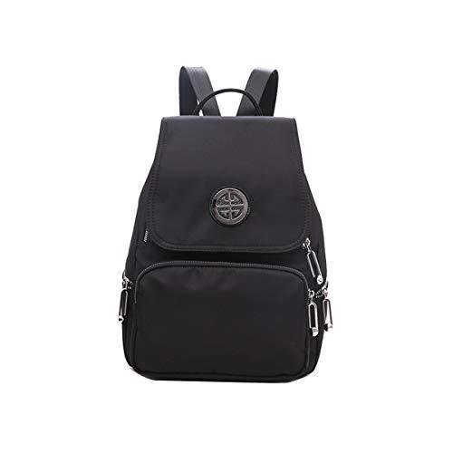 (Yslin Rucksack Damen Groß Schultasche Mädchen Backpack Weich Tagesrucksack Wasserdicht Schulrucksack Jungen Rucksäcke Nylon (Schwarz))