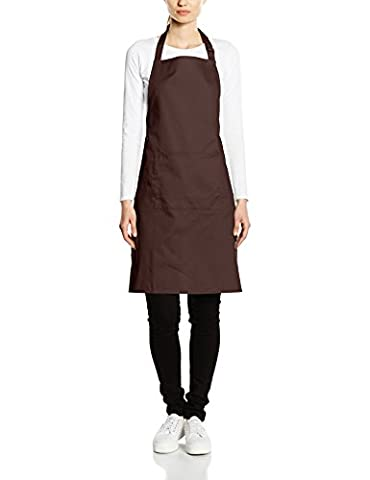 Premier Workwear Women's Colours Bib Apron with Pocket Tops, Brown, Large