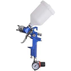 Gunpla HVLP Pistola Pulverizadora Aerográfica de 1,4 mm + Regulador de Presión con Manómetro para Pintar Gravedad