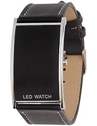 DKHSKITFJRLO Reloj Deportivo Reloj LED de Moda Negro para Hombres, Mujeres, Deportes, Correa
