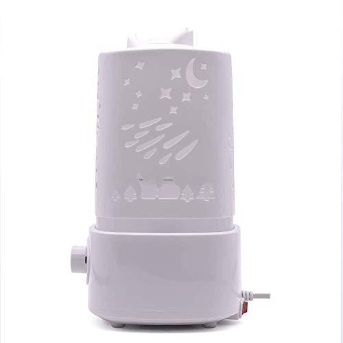 DXXCV Aromatherapie Essential Oil Diffuser, Ultrasonic Cold Mist Humidifier, Quiet Whisper und 7 farbige LED-Leuchten für Baby Room, Familie -