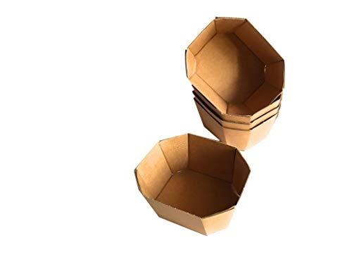 50 scatole di cartone avana kraft aperte ideali per confezioni frutta,bomboniere,packaging regalo,ceste regalo