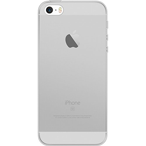 PhoneNatic Case für Apple iPhone SE Hülle Silikon clear Slimcase Cover iPhone SE Tasche + 2 Schutzfolien Clear