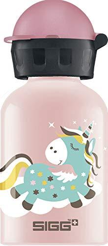 SIGG Fairycon Kinder Trinkflasche (0.3 L), schadstofffreie Kinderflasche mit auslaufsicherem Deckel, federleichte Trinkflasche aus Aluminium