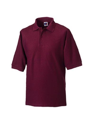 Jerzees Pique Polo Shirt XL Burgundy (Jerzees Golf-polo-shirt)