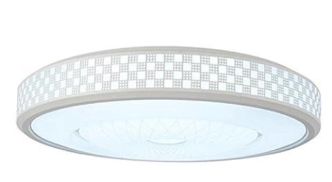 XXFFH Glühlampen Leuchtstofflampe Licht Fyn Led Deckenleuchten 12W Weiß Runder Durchmesser 30Cm, Einfach, Romantisch, Warmes Licht, Beleuchtung Für Wohnzimmer, Schlafzimmer, Kinderzimmer, Esszimmer, Bündig Deckenleuchten Acryl Energieklasse A ++ , White Light , Diameter (Runde Dekorative Jar)